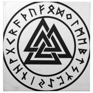 Heidnischer Symbole Odins Knoten Valknut Stoffserviette
