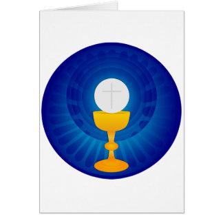 Heilige Abendmahl-Mitteilungskarten Mitteilungskarte