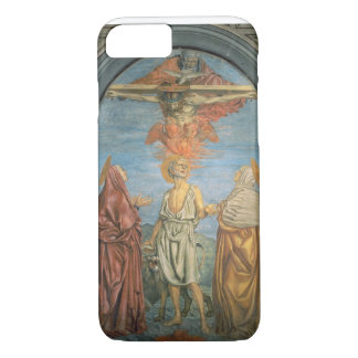 Heilige Dreifaltigkeit mit St Jerome (Fresko) iPhone 8/7 Hülle