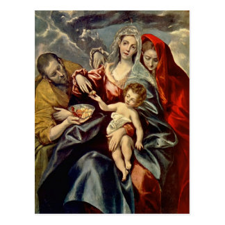 Heilige Familie EL Greco- Postkarte