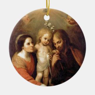 Heilige Familie mit Engeln durch Gutiérrez Keramik Ornament