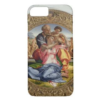 Heilige Familie mit Johannes (Doni Tondo), 1504-05 iPhone 8/7 Hülle