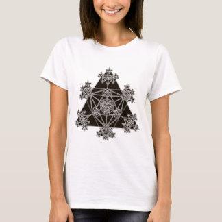 Heilige Geometrie: Schwarze Dreiecke: T-Shirt