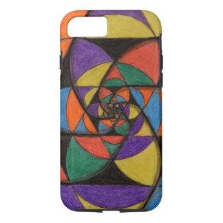 Heilige Geometrie-Spiralen iPhone 8/7 Hülle