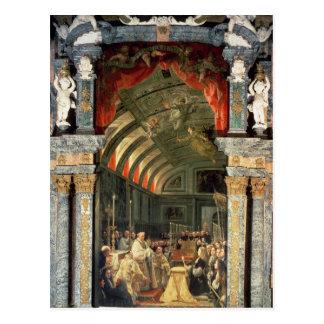 Heilige Kommunion von Charles II Postkarte