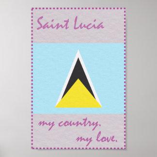 Heilige Lucia mein Land meine Liebe Poster