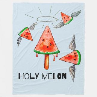 Heilige Melone Fleecedecke