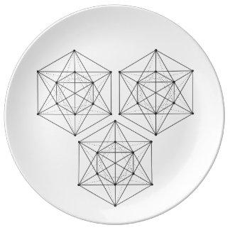 Heilige Platte der Geometrie-2 Porzellanteller