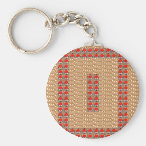 Heilige Tempel-Kunst: Goldene prägeartige Rot Schlüsselanhänger