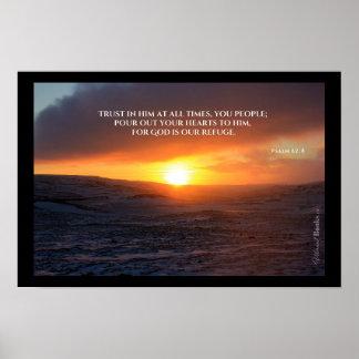"""Heilige Wörter"": Psalm-62:8 Poster"