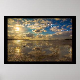 """Heilige Wörter"": Psalm-9:9 Poster"