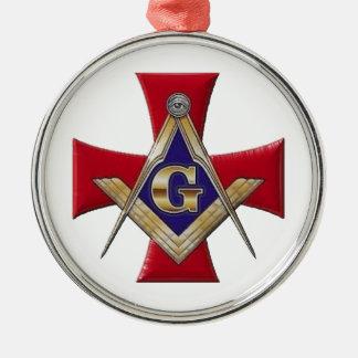 Heiliger Auftrag der Bruderschaft Rundes Silberfarbenes Ornament