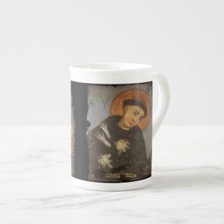 Heiliger Franziskus mit weißen Lilien Prozellantasse
