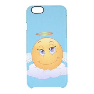 Heiliger smiley auf der Wolke Durchsichtige iPhone 6/6S Hülle