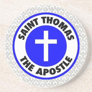 Heiliger Thomas der Apostel Sandstein Untersetzer