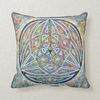 Heiliges Geometrie-Blues-Kissen Kissen