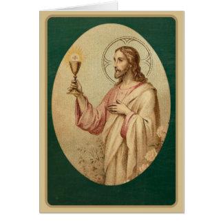 Heiliges Herz-katholische Massen-anbietenkarte Karte