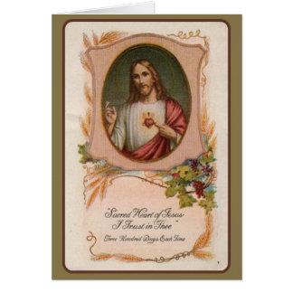 Heiliges Herz-katholisches Karte