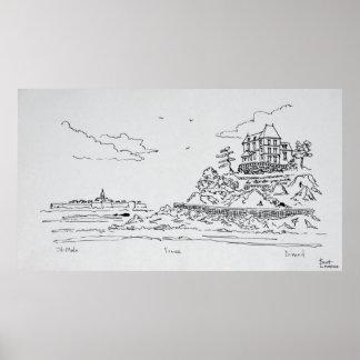 Heiliges-Malo, Heiliges-Enogat   Dinard, Bretagne Poster