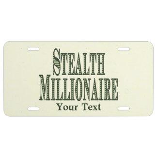 Heimlichkeits-Millionär US Nummernschild