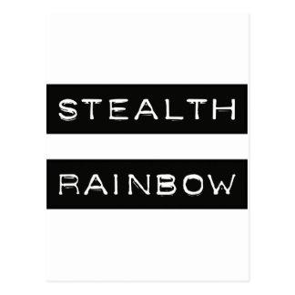 Heimlichkeits-Regenbogen-Umbau Postkarte
