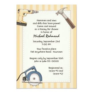 Heimwerker-Werkzeug-Duschen-Einladung 12,7 X 17,8 Cm Einladungskarte