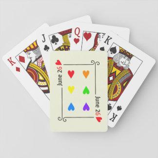 Heirat-Gleichheits-Tagesspielkarten Spielkarte