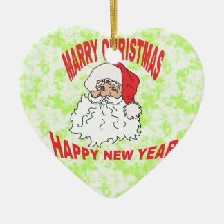 heiraten Sie christmast Keramik Herz-Ornament