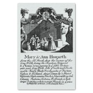 Heiraten Sie u. Visitenkarte Ann Hogarth Seidenpapier