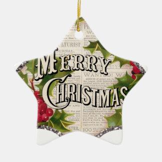 heiraten Sie Weihnachten Keramik Stern-Ornament