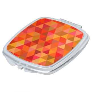 Heiße Sonnedreiecke Taschenspiegel