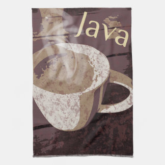 Heiße Tasse Kaffee-Java Geschirrtuch