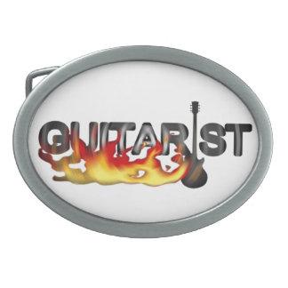 Heißer Gitarrist-Gitarrist Ovale Gürtelschnallen