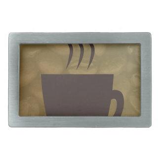 Heißer Kaffee-Hintergrund Rechteckige Gürtelschnalle