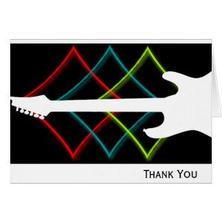 Heißes Pop-Farbgitarren-Geschäft Mitteilungskarte