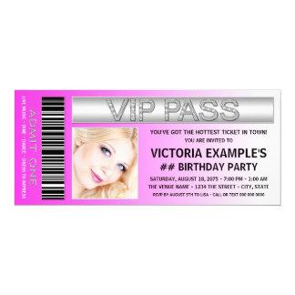 Heißes Rosa 10,2 X 23,5 Cm Einladungskarte