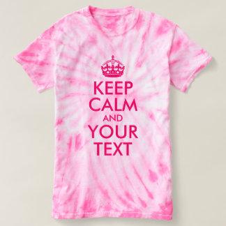 Heißes Rosa behalten Ruhe und Ihren Text T-shirt