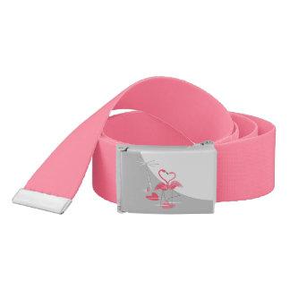 Heißes Rosa Flamingo-Liebe-des großen Mondgurtes Gürtel