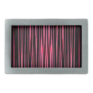 HEISSES ROSA-FLIESE (ein abstrakter Kunstentwurf) Rechteckige Gürtelschnallen