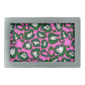 Heißes Rosa-grüne MinzeCheetah abstrakt Rechteckige Gürtelschnalle