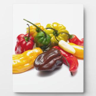 Heißeste Paprikas Fotoplatte
