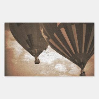 Heißluft-Ballon-Vintage Fotografie Rechteckiger Aufkleber