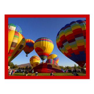 Heißluft-Ballone 1 Postkarte