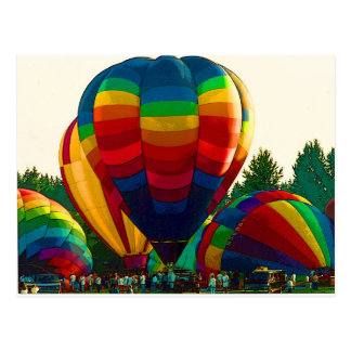 Heißluft-Ballone Postkarte
