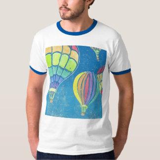 Heißluft steigt der Wecker-T - Shirt der Männer im