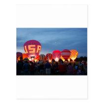 Heißluftballon-Skyline Postkarte
