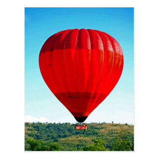 Heißluftballon, zum des Lebens zu feiern Postkarte