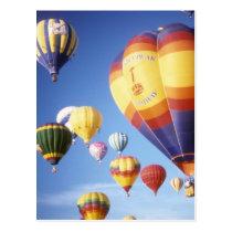 Heißluftballone Postkarte
