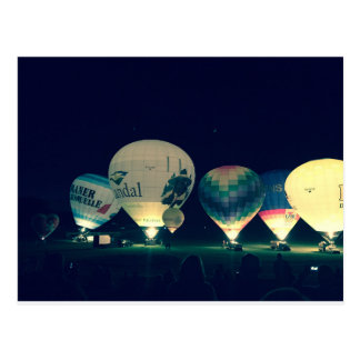 Heißluftballons Postkarte
