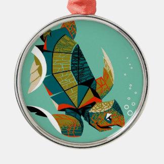 Heitre australische Meeresschildkröte Silbernes Ornament